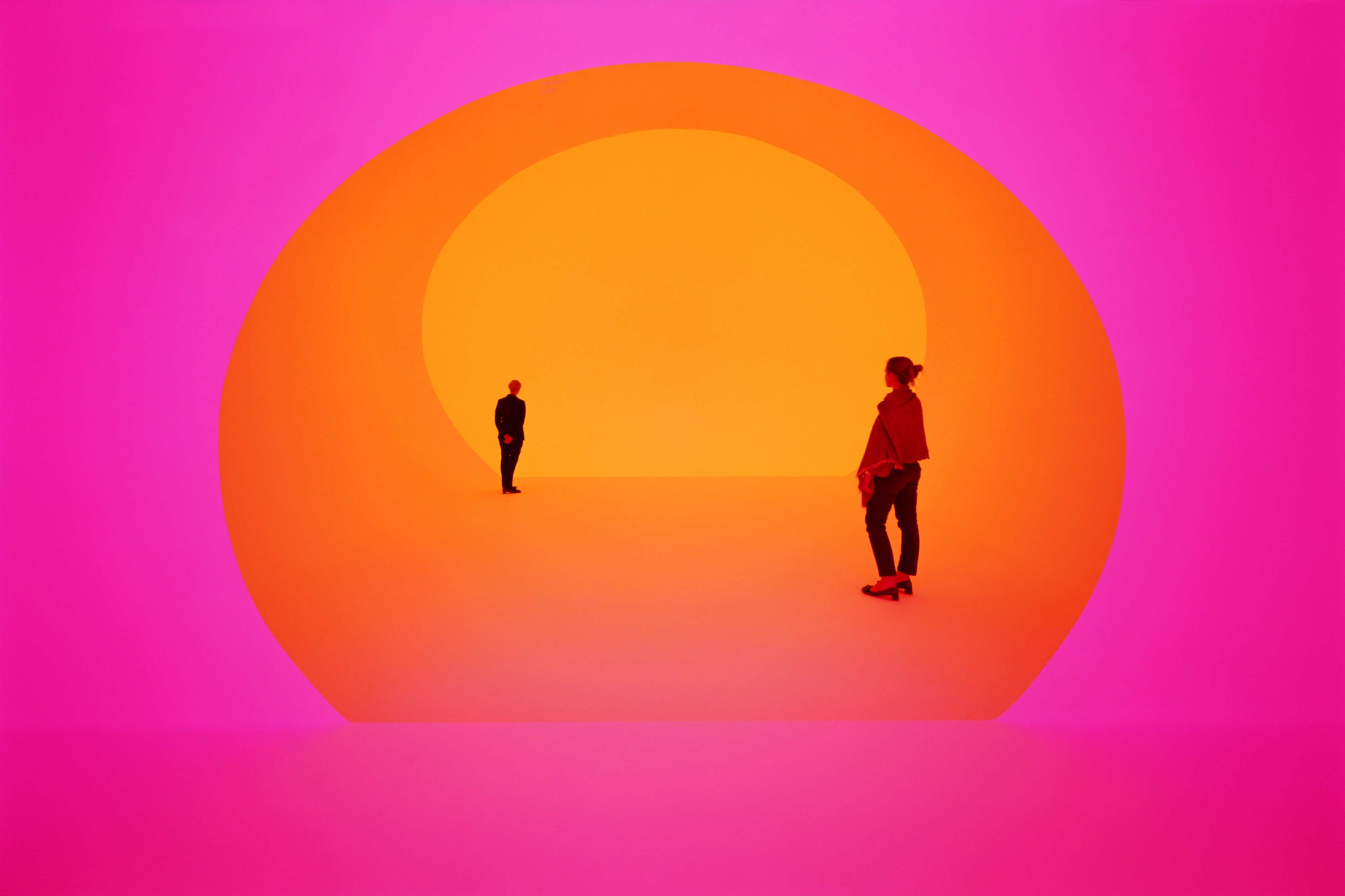 James Turrell (American; Contemporary, Post-Minimalism, Light and Space, Installation; b. 1943): Breathing Light, 2013. LED light into space. Los Angeles County Museum of Art, California, USA. © James Turrell. Photo © Florian Holzherr. © This artwork may be protected by copyright. It is posted on the site in accordance with fair use principles.