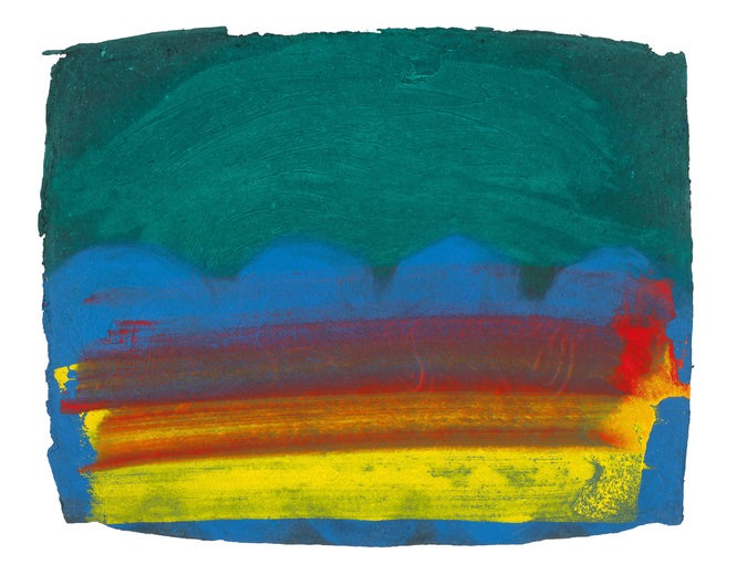 """Chowpatty Beach,"" 1990-1991. Credit Howard Hodgkin, All Rights Reserved, via Gagosian"