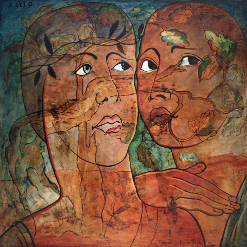 "Francis Picabia, Aello, 1930, oil on canvas, 66½"" × 66½"". ©2016 ARTIST RIGHTS SOCIETY (ARS), NEW YORK AND ADAGP, PARIS/PRIVATE COLLECTION"