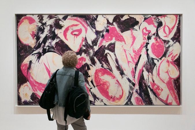 "Lee Krasner's wall-filling ""Gaea"" (1966). 2017 The Pollock-Krasner Foundation / Artists Rights Society (ARS), New York.  Nicole Craine for The New York Times"