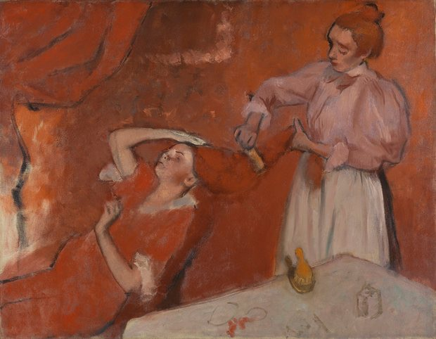 Edgar Degas (1834–1917): Combing the Hair ('La Coiffure'), c. 1896. Photograph: The National Gallery, London.