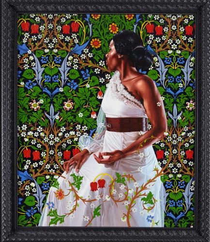 Kehinde Wiley (American, b. 1977): Mrs. Siddons, 2012. From: An Economy of Grace. Oil on linen, 72 x 60 inches. © Kehinde Wiley. Photo: kehindewiley.com © This artwork may be protected by copyright. It is posted on the site in accordance with fair use principles.