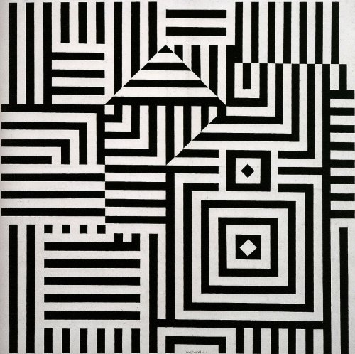 Victor Vasarely (Hungarian/French, Op Art, 1906-1997): Riu Kiu C, 1960. Acrylic on canvas, 115 x 115 cm. © This artwork may be protected by copyright. It is posted on the site in accordance with fair use principles.