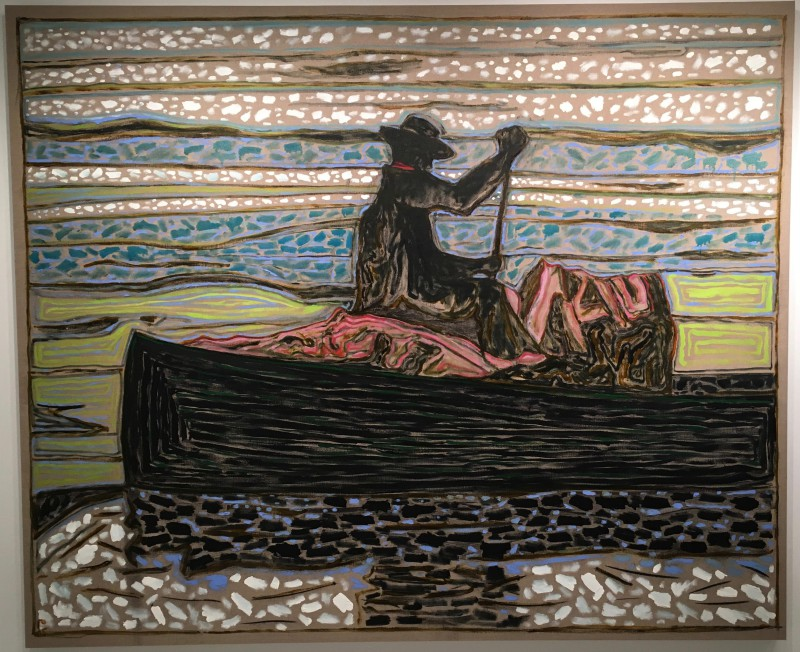 Billy Childish (British, b. 1959): alaska fur packer, 2015. Oil and charcoal on linen, 72 × 87 inches (183 × 221 cm). Courtesy the artist and Carl Freedman Gallery, London, UK.
