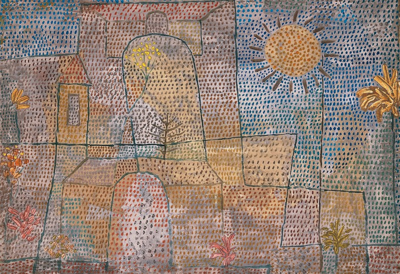 """Plants in the Courtyard,"" 1932, by Swiss artist Paul Klee (1879-1940) (Paul Klee)"