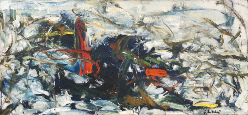 Joan Mitchell (American, 1926-1992): Untitled, 1957. Oil on canvas, 27 x 57-1/2 inches (68.6 x 146.1 cm). Edward Tyler Nahem Fine Art, LLC, New York, NY, USA.