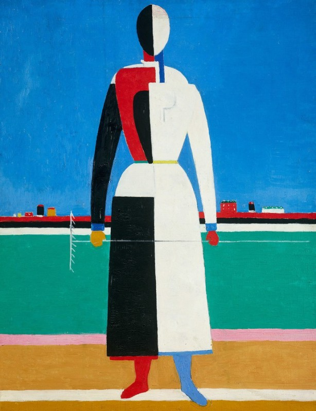 Woman with Rake, by Kazimir Malevich, circa 1932. From The State Tretyakov Gallery, Moscow.