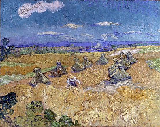 Wheat Stacks with Reaper, Auvers