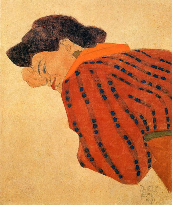 Reclining Woman with Red Blouse
