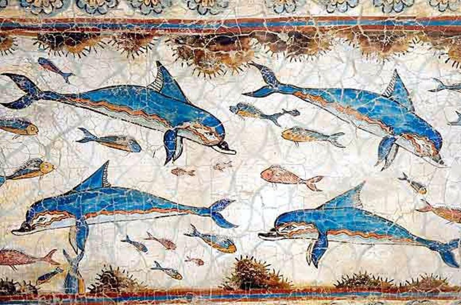 I require art palace at knossos minoan dolphin fresco for Ancient greek mural