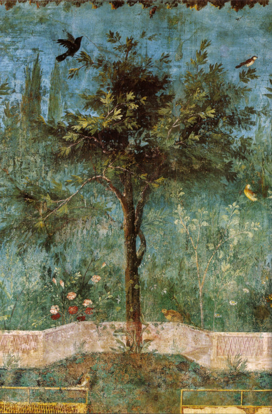 The Painted Garden of the Villa of Livia, (detail, Oak Tree)