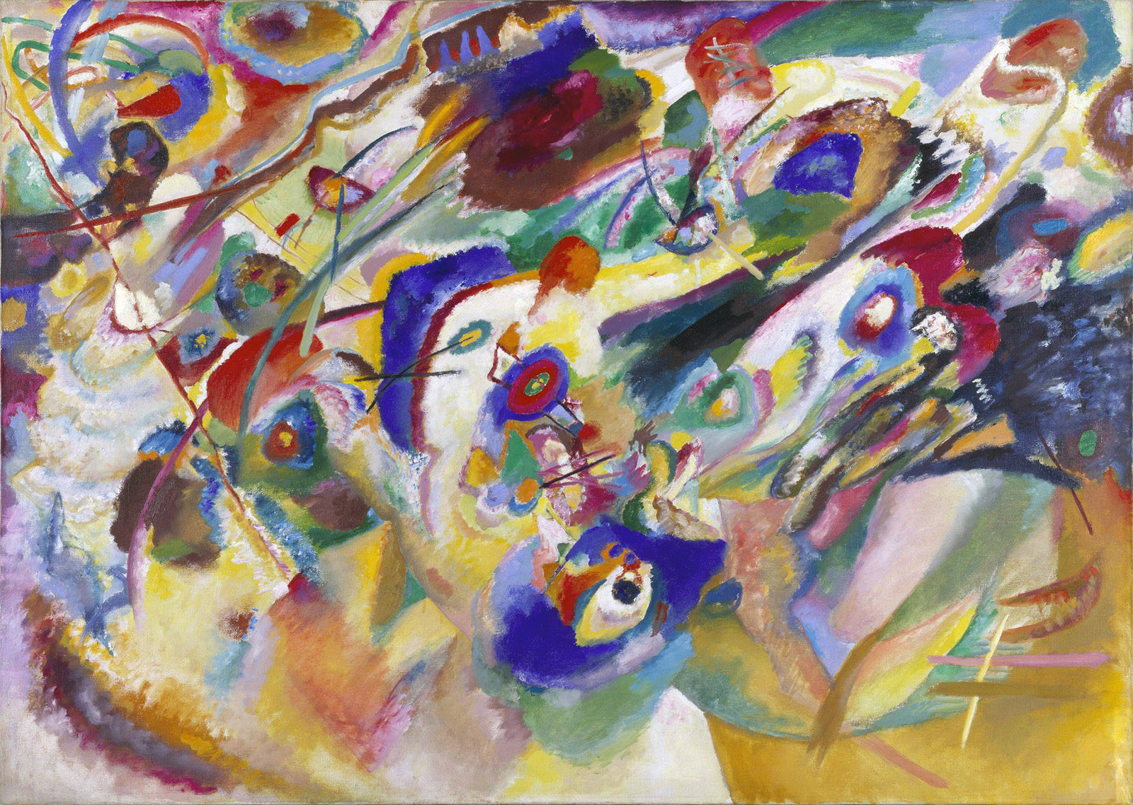 Wassily Kandinsky - Sketch 2 for Composition VII - I Require Art