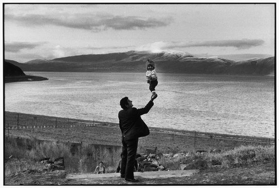 Armenia-USSR, Visitors at village on the Lake Sevan