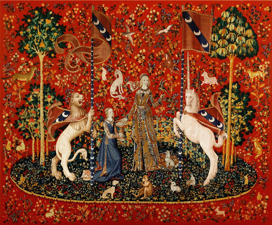 The Lady and the Unicorn (one tapestry of six from The Tapestry Cycle)