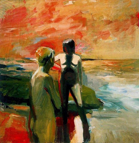 Two Figures at the Seashore