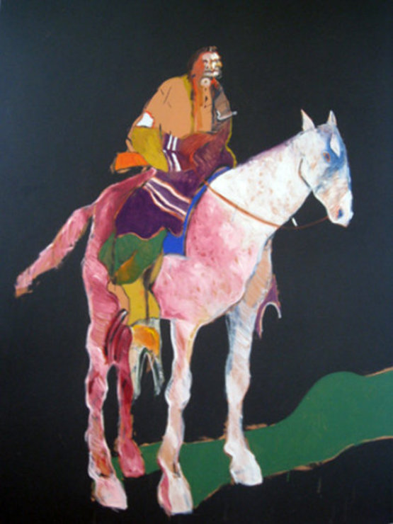 Indian on White Horse